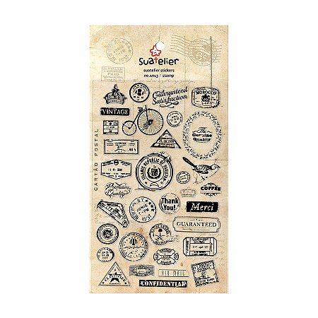 Adesivo Divertido Transparente - Stamp
