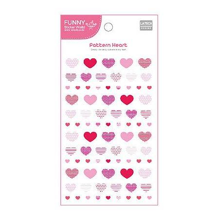 Adesivo Divertido Epoxy - Pattern Heart