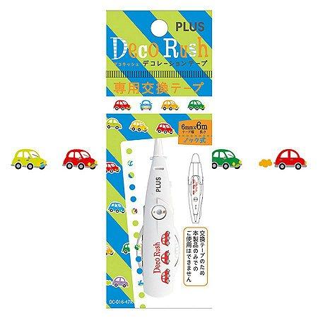 Refil - Fita Decorativa Deco Rush - Carros - DC-016-47R Plus Japan