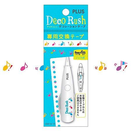 Refil - Fita Decorativa Deco Rush - Notas - Plus Japan