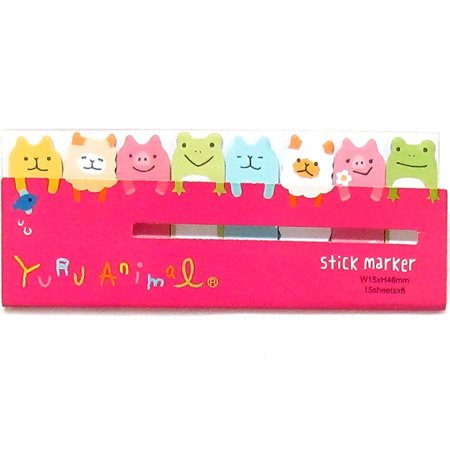 Post-it Stick Marker Yuru Animal - Pink