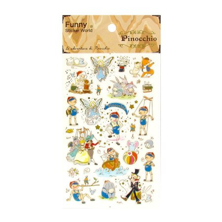 Adesivo Divertido Transparente - Pinocchio