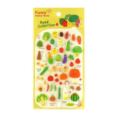 Adesivo Divertido Puffy - Food Collection 4