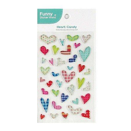 Adesivo Divertido Epoxy - Heart Candy
