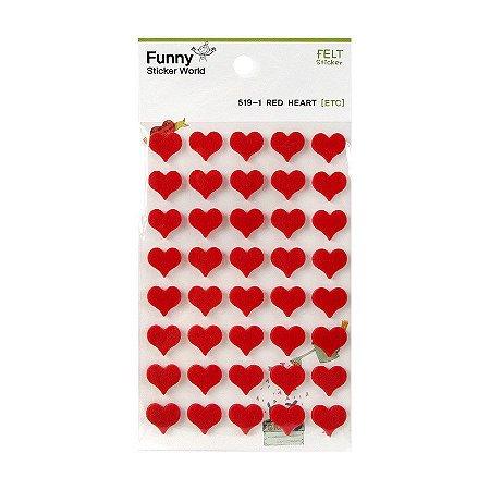 Adesivo Divertido Feltro - Red Heart