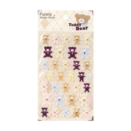 Adesivo Divertido Puffy - Teddy Bear