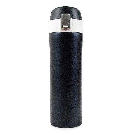 Garrafa Térmica Lisa com Botão 500ml - Azul Marinho