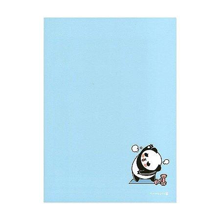 Caderno Brochura Moongs Panda Academia Azul - Morning Glory