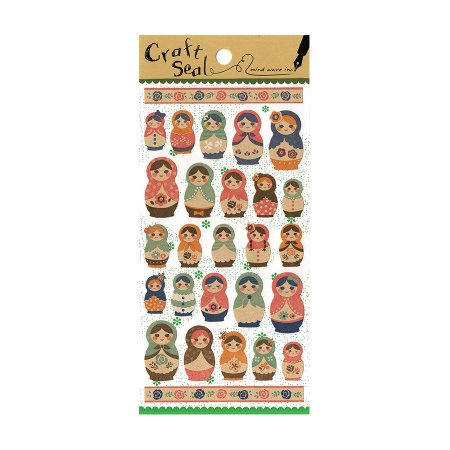 Adesivo Divertido Papel - Craft Seal Matryoshka