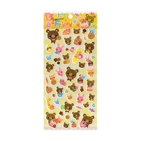 Adesivo Divertido Papel - Bear's Friend How Delicious
