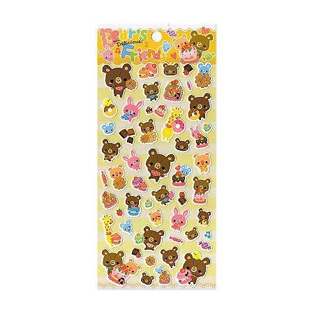 Adesivo Divertido Papel - Bear's Friend How Delicious