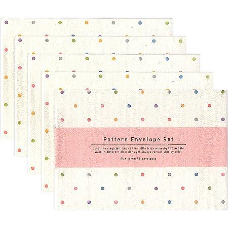 Kit Mini Envelopes Pattern Envelope Set Poá Colorido