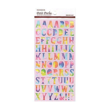 Adesivo Divertido Papel - Petit Poche Alfabeto Colorido