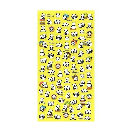 Adesivo Divertido Papel - Panda Amarelo