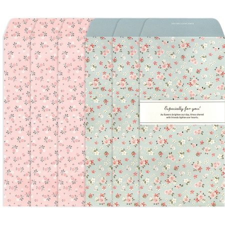 Kit Envelopes Especially For You Floral Rosa Floral Azul