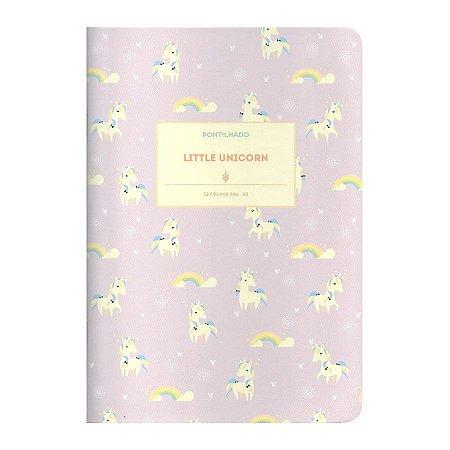 Caderno Brochura Pontilhado Little Unicornio M