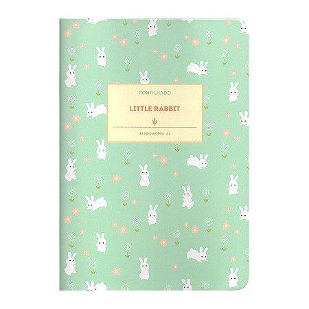 Caderno Brochura Pontilhado Little Rabbit M