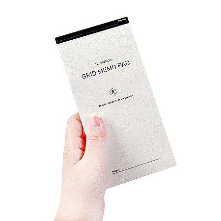 Bloco de Notas Quadriculado Le Agenda Grid Memo Pad - Artbox