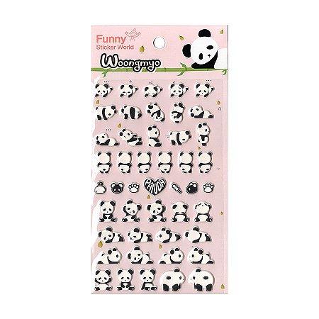 Adesivo Divertido Puffy - Panda Woongmyo