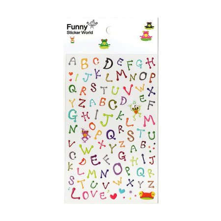 Adesivo Divertido Epoxy - Alfabeto Sapos Colorido