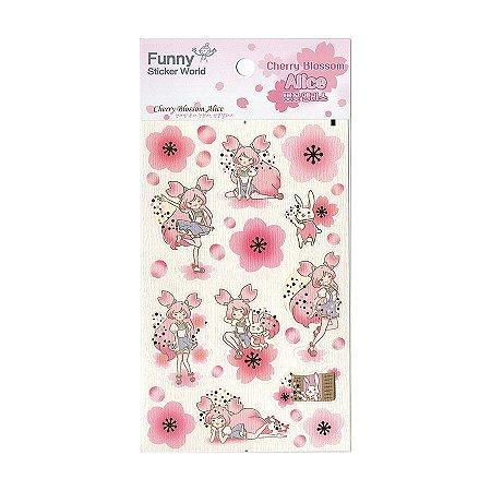Adesivo Divertido Papel - Cherry Blossom Alice