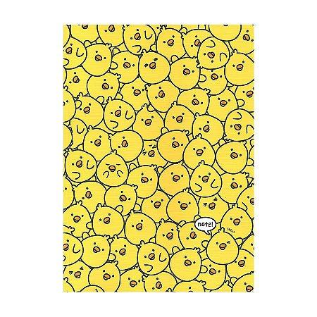 Caderno Brochura Note! Pintinho Iren Galapagos Friends Amarelo - Artbox