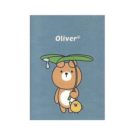 Caderno Brochura Oliver e Iren Folha Galapagos Friends Azul  M - Artbox