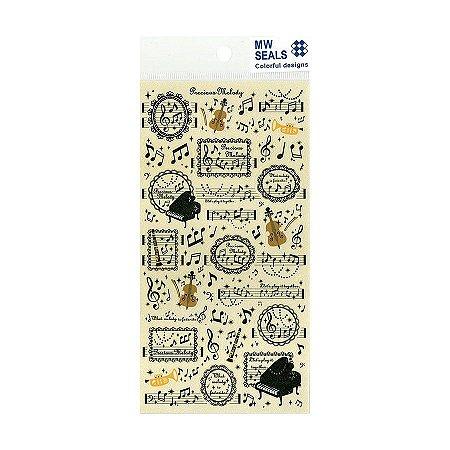 Adesivo Divertido Papel - Precious Melody MW Seals