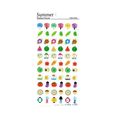 Adesivo Divertido Papel - Summer Selection Nippon Ippai