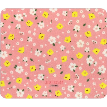Mouse Pad (3T) Cherry Blossom Galapagos Friends Pintinho Iren Sakura Floral Rosa - Artbox
