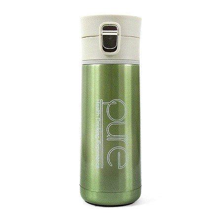 Garrafa Térmica com Botão Pure Verde 350ml