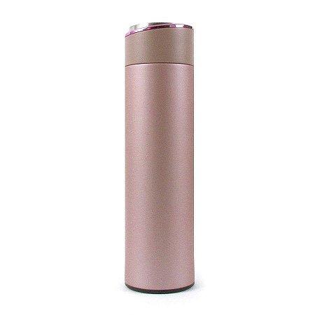 Garrafa Térmica Lisa 500ml Rosa