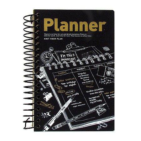Agenda Permanente (Sem Data) Espiral Artbox - Planner Rabiscos Preto