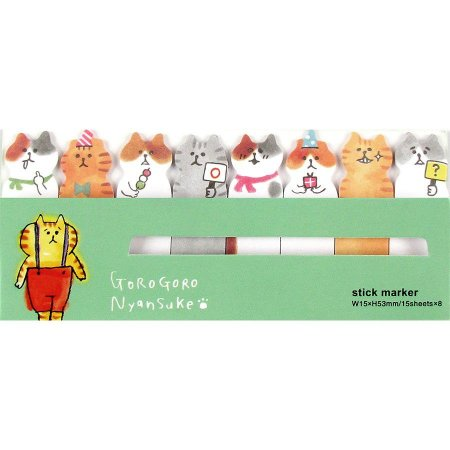 Post-it Stick Marker Gorogoro Nyansuke Suspensório Verde