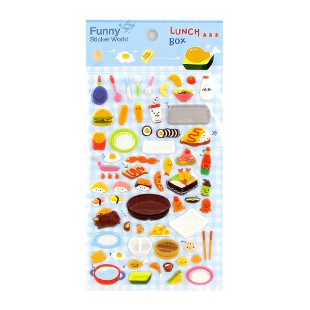 Adesivo Divertido Puffy - Lunch Box