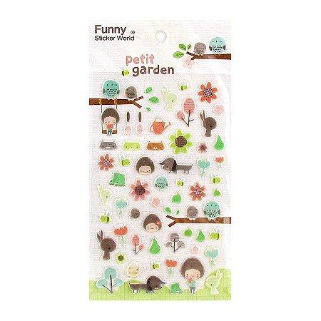 Adesivo Divertido Puffy - Petit Garden