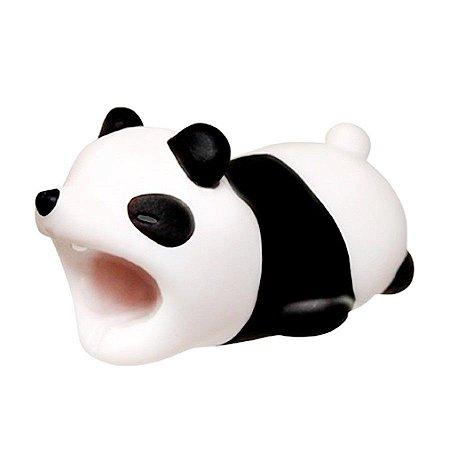 Enfeite e Protetor de Cabo iPhone Tipo Cable Bite - Panda