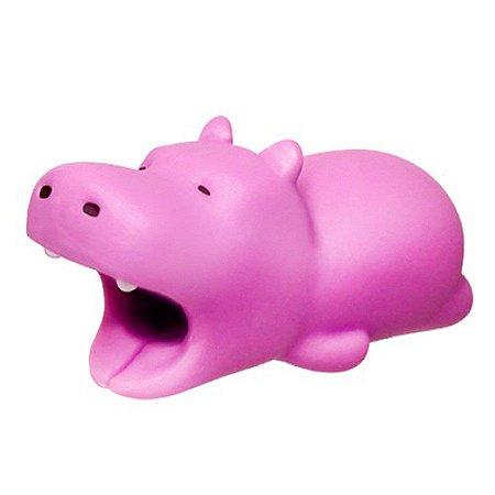 Enfeite e Protetor de Cabo iPhone Tipo Cable Bite - Hipopótamo