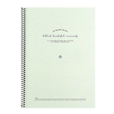 Caderno Espiral Les Histoires de Moi Verde Água - Artbox