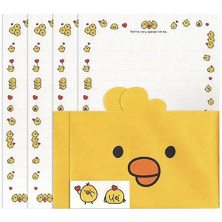Papel de Carta Hello! Iren Letter Set Galapagos Friends Amarelo