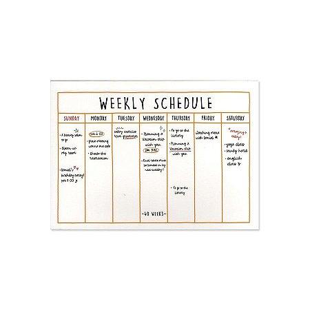 Agenda Semanal de Mesa (Sem Data) Planner Semanal Weekly Schedule Creme - Artbox