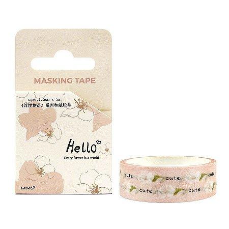 Fita Decorativa Washi Tape - Hello Sakura Rosa