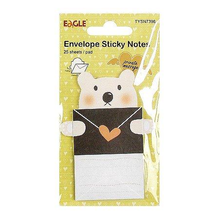 Post-it Envelope Sticky Notes Urso Amarelo