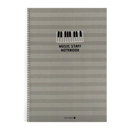 Caderno de Música Music Staff Notebook Cinza - Morning Glory