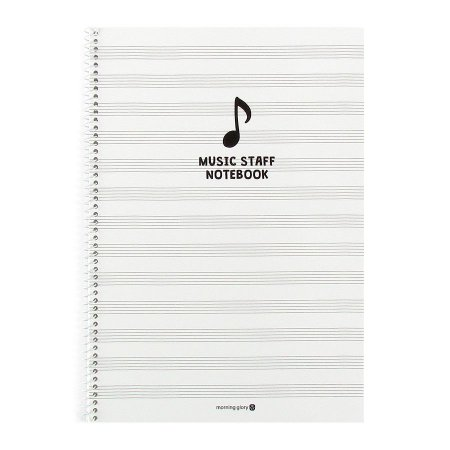 Caderno de Música Music Staff Notebook Branco - Morning Glory