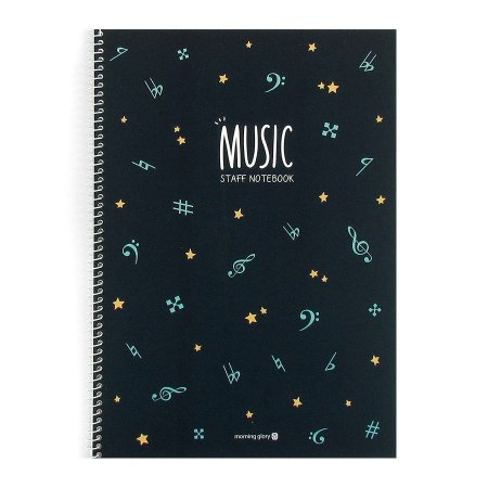 Caderno de Música Music Staff Notebook Azul - Morning Glory