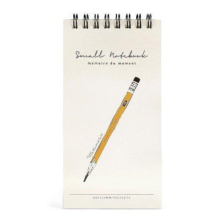 Caderneta Espiral Capa Dura Small Notebook Lápis Creme - Artbox