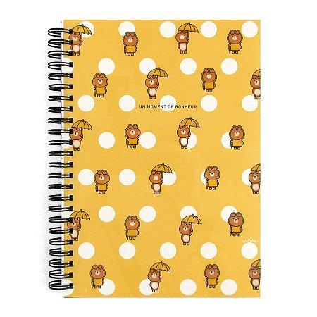 Caderno Espiral Médio Un Moment De Bonheur Oliver Amarelo - Artbox