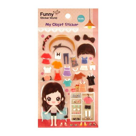 Adesivo Divertido Puffy - My Closet Sticker Lovely