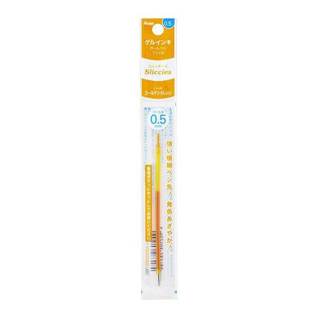 Refil Caneta Gel 0.5 Sliccies Iplus i+ Pentel - Golden Orange Laranja